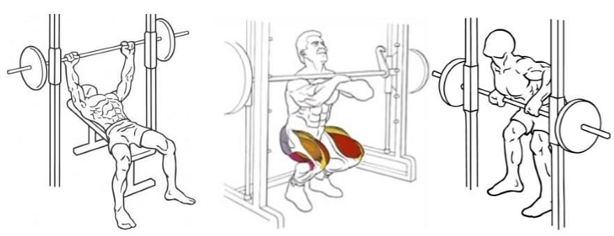 упражнения в тренажере смита