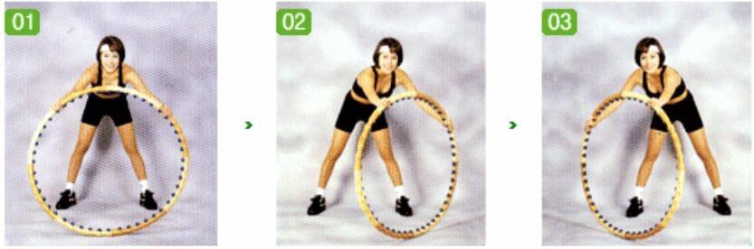 упражнения с обручем, 1