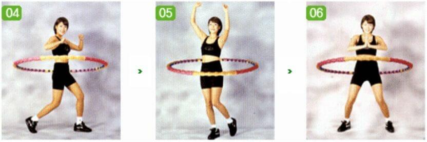 упражнения с обручем, 2