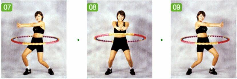 упражнения с обручем, 3