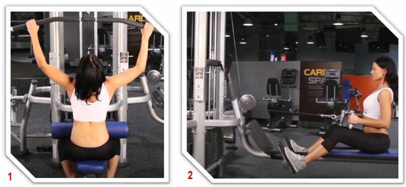 упражнения в тяговом тренажере для женщин
