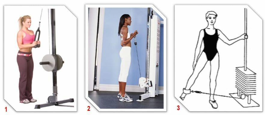 упражнения в блочной раме для женщин