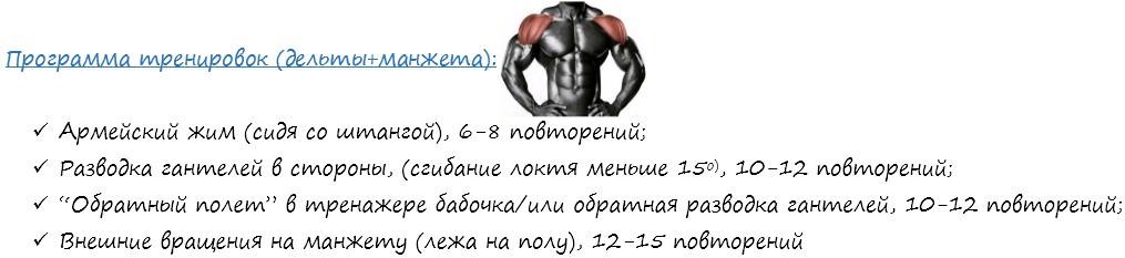 Программа тренировок плеч согласно ЭМГ активности