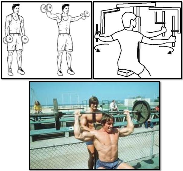 Упражнения на средний пучок дельт