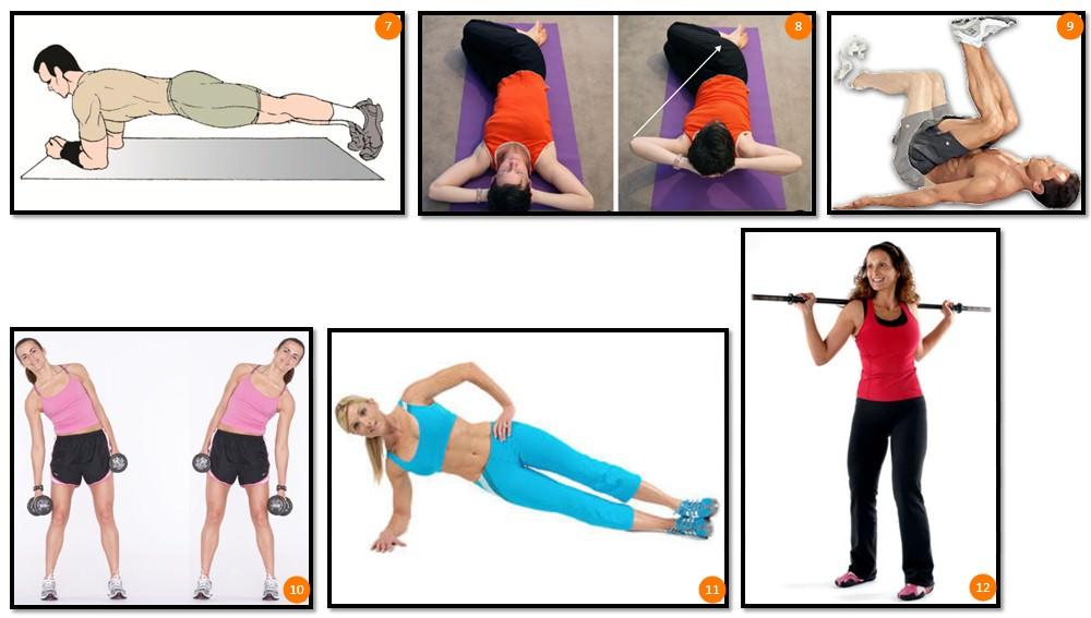 упражнения для прямой и косых мышц живота, часть 2