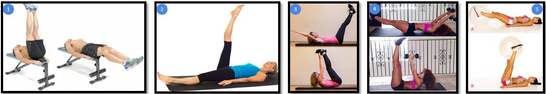 Вариации упражнения подъем ног из положения лежа