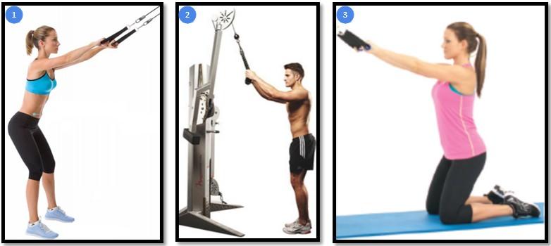 Варианты упражнения тяга верхнего блока прямыми руками