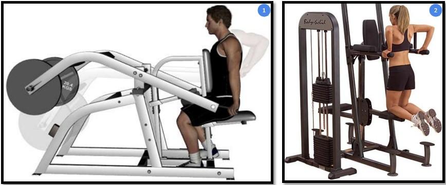 Варианты упражнения отжимания в тренажере