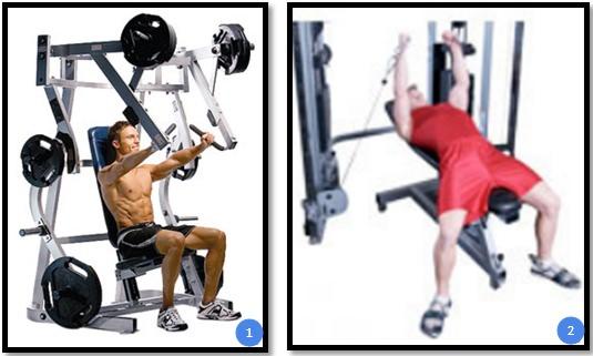 Вариации упражнения жим в тренажере сидя