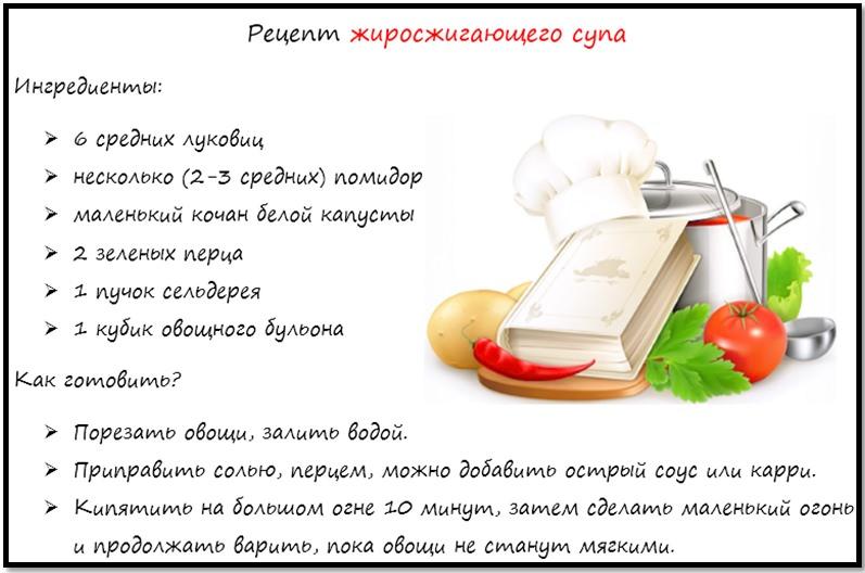 Как быстро похудеть рецепт жиросжигающего супа