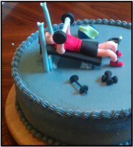 Азбука Бодибилдинга торт 2015