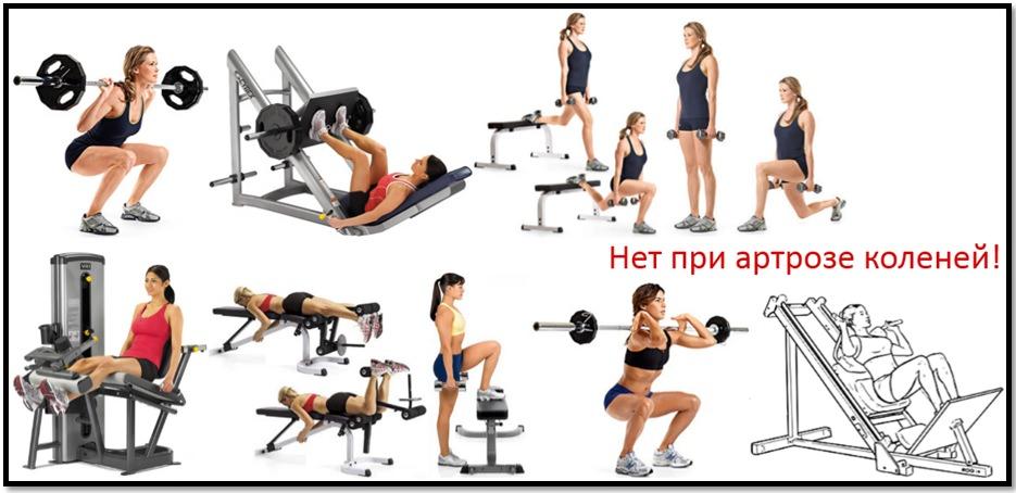 Артроз и бодибилдинг. Упражнения, которые следует исключить при артрозе коленей.