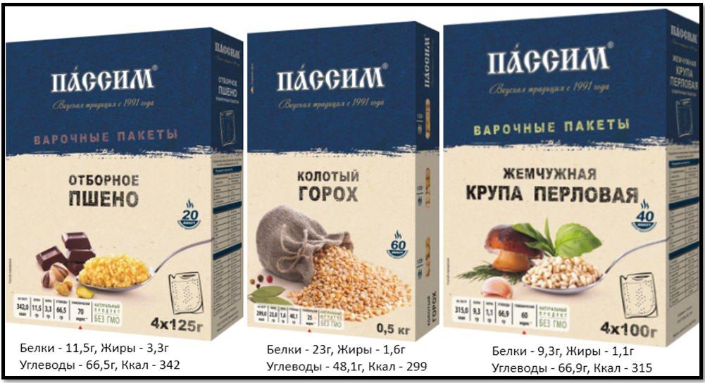 """Производители полезных продуктов. Пищевая ценность продуктов от """"Пассим"""""""