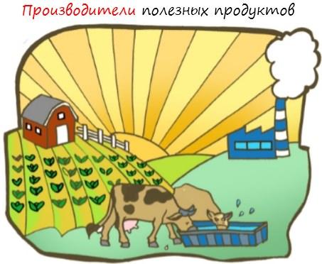 Производители полезных продуктов