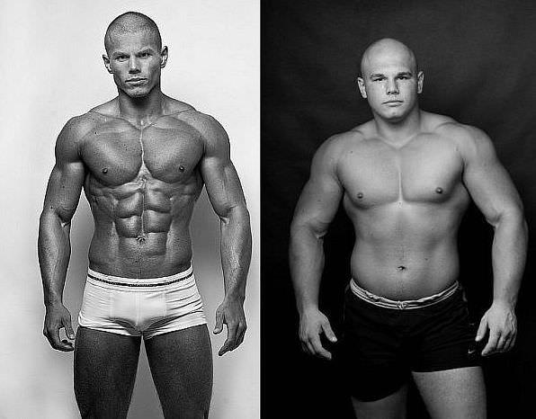 сушка мышц: до и после