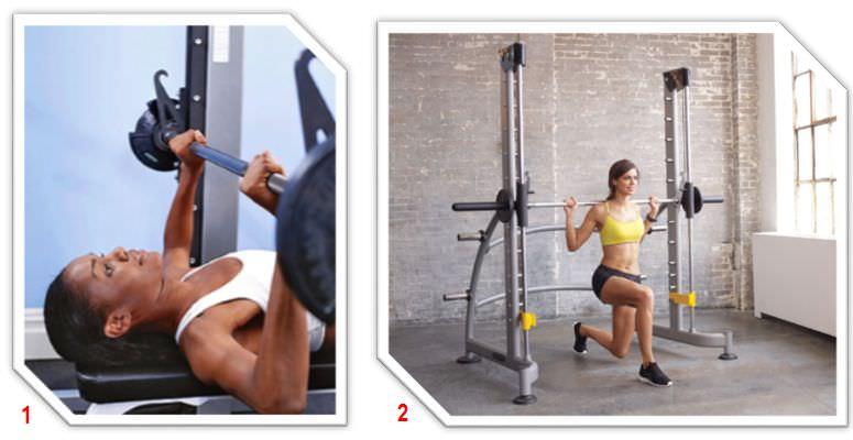 упражнения для женщин в тренажере смита