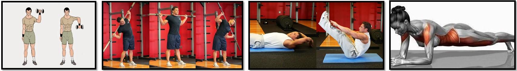 упражнения на укрепление связок и мышц кора