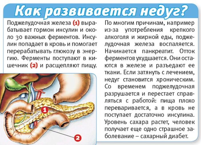 Как разивается панкреатит