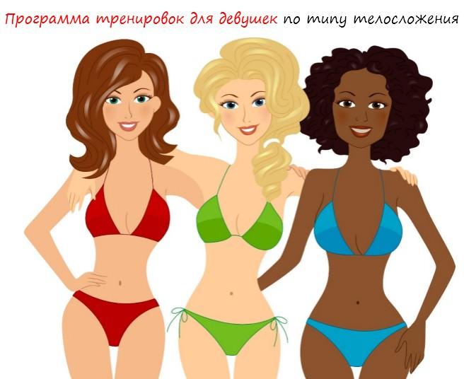 Программа тренировок для девушек по типу телосложения