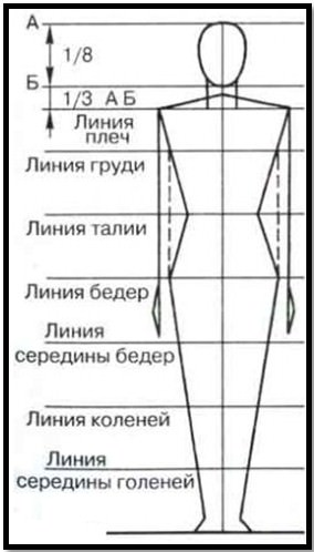 Замеры тела для женщины