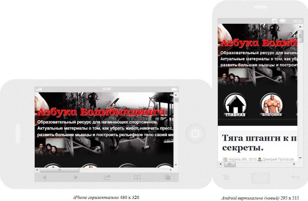 Азбука Бодибилдинга без мобильной версии сайта