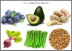 Продукты против варикоза
