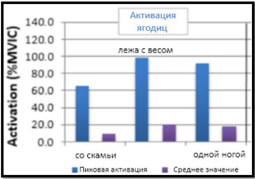 Ягодичный мостик результаты ЭМГ исследований