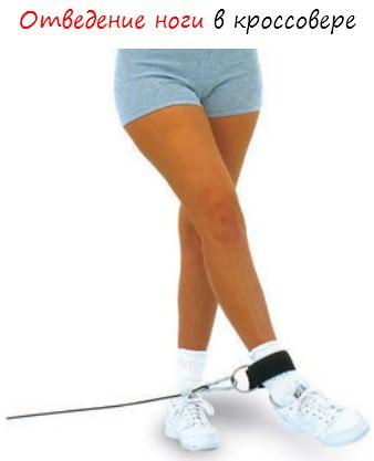 Отведение ноги в кроссовере