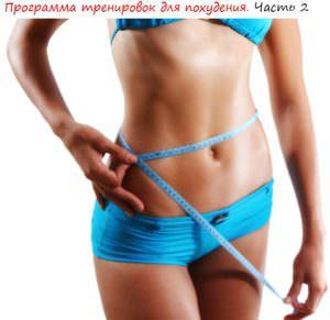 Программа тренировок для похудения лого 2