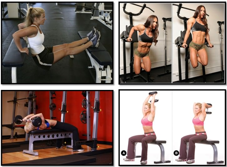 упражнения для трицепса для девушки