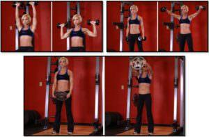упражнения для девушки для плеч