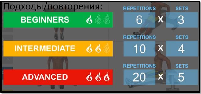 Обратные отжимания какие мышцы работают