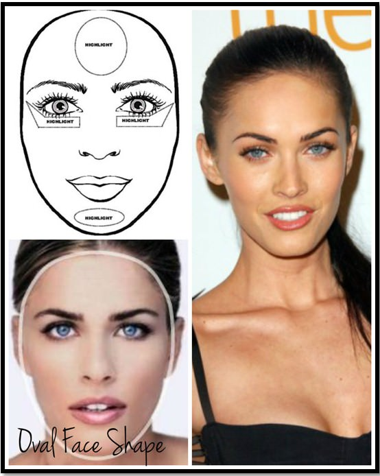 правильный макияж для лица овал