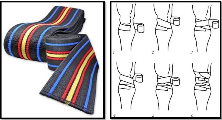 бинты для приседаний, как наматывать