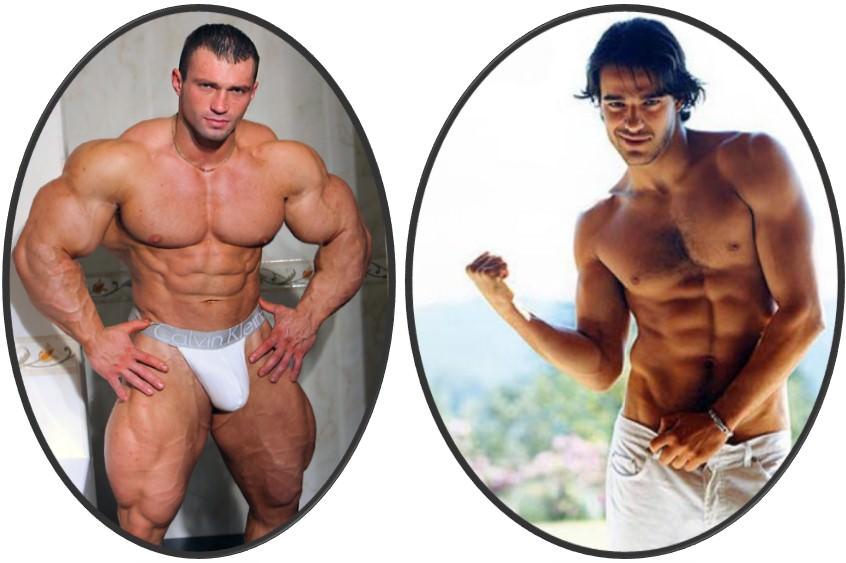 разная мышечная масса