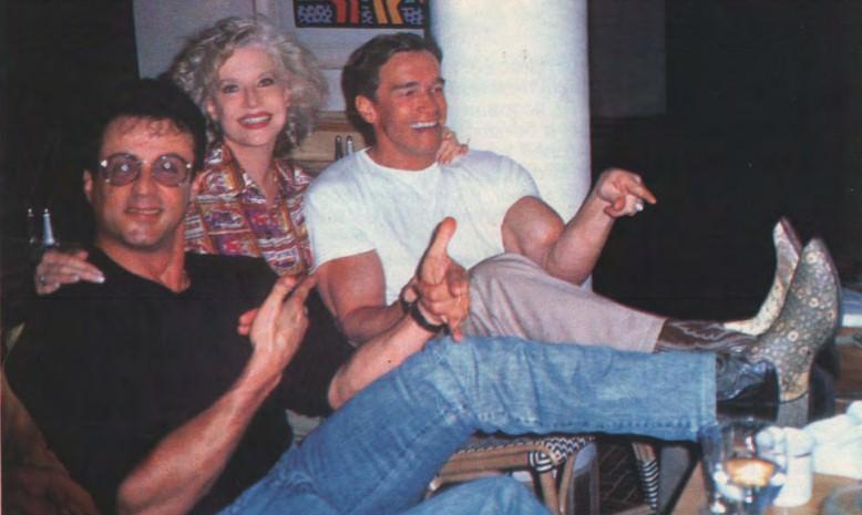 Арнольд, Сталонне и Бэти Уайдер на открытии ресторана