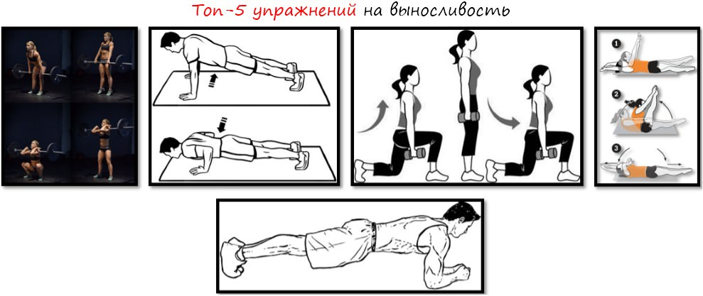 Топ-5 упражнений на выносливость
