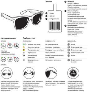 Как выбрать солнцезащитные очки памятка