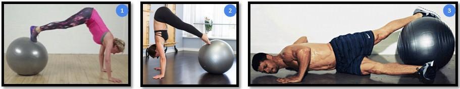 подтягивания ног к груди на фитболе вариации
