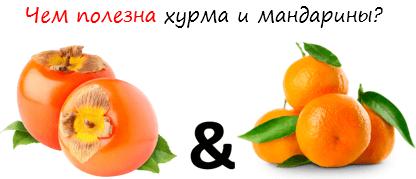 Чем полезна хурма и мандарины лого