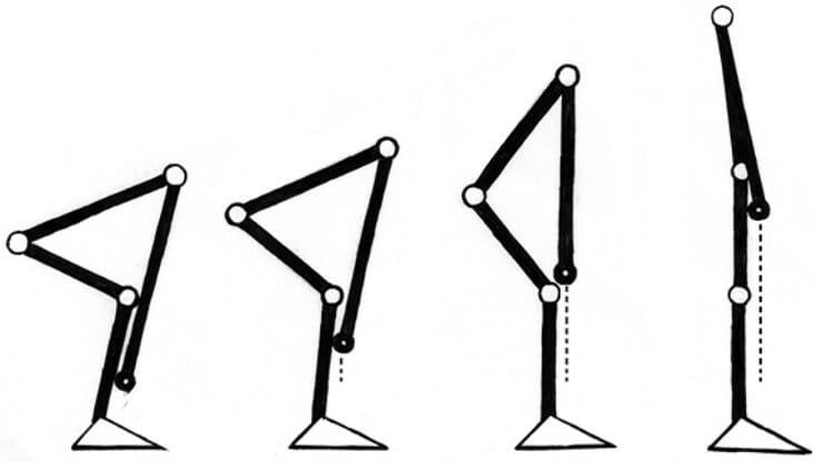 становая тяга, техника, схематичное изображения