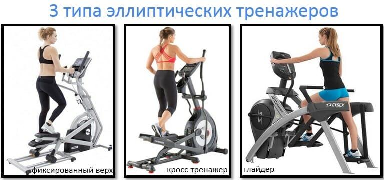 3 типа эллиптических тренажеров