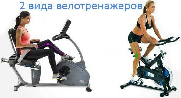 велотренажеры 2 вида