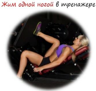Жим одной ногой в тренажере лого