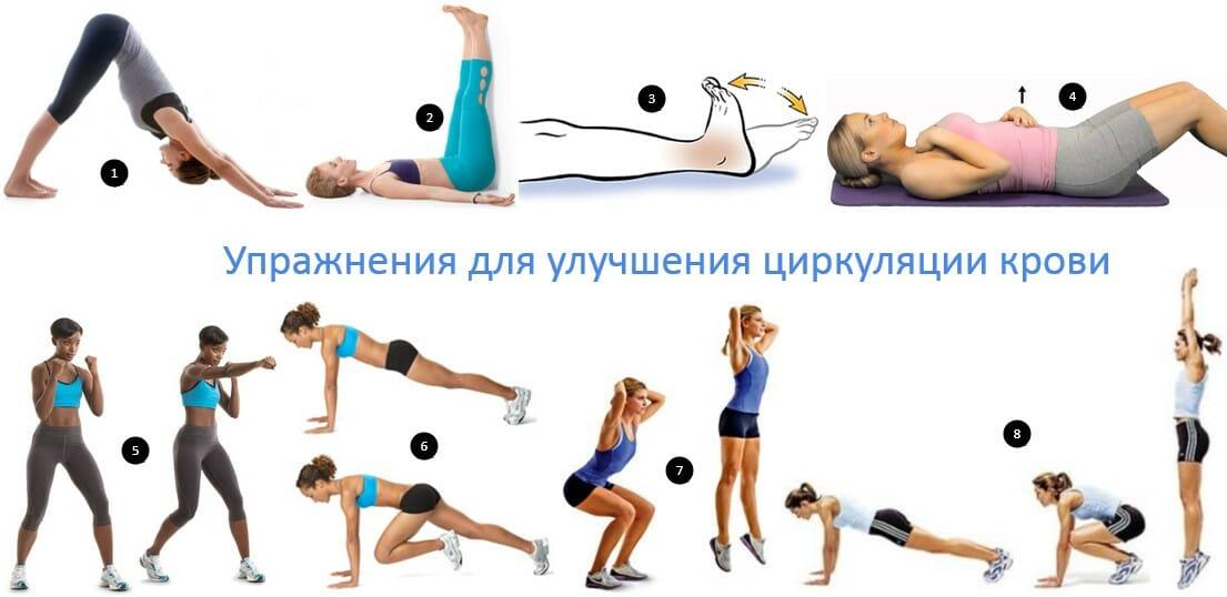 упражнения для циркуляции крови