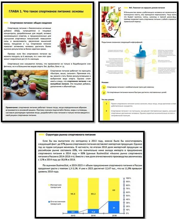 Методичка про спортивное питание страницы пример