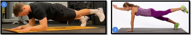 планка на одной ноге вариации