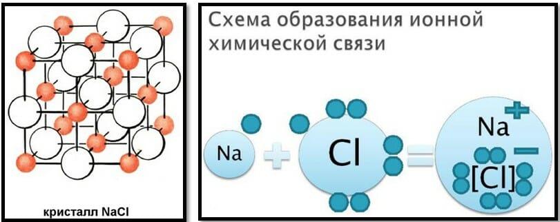 химический уровень организации человека: ионная связь