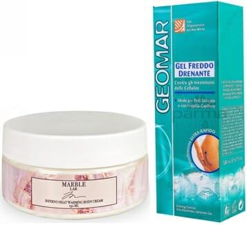 крема с разогревающим и охлаждающим эффектами marble lab, geomar